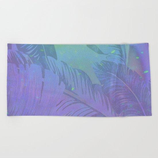 Rainbow in Palms Beach Towel