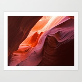 The Waves of Antelope Canyon Art Print