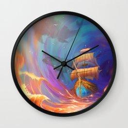 Sky Travel Wall Clock