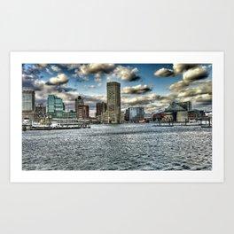 inner harbor Art Print