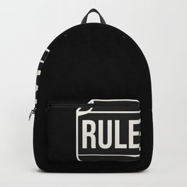 Rule Book RPG Role Play design Backpack