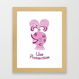 Use Protection Framed Art Print