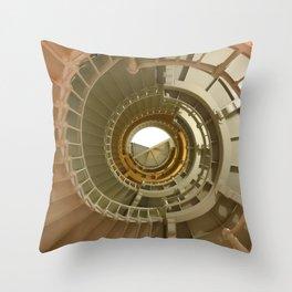 Gray's Harbor Lighthouse Stairwell Spiral Architecture Washington Nautical Coastal Throw Pillow
