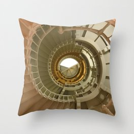 Gray's Harbor Lighthouse Stairwell Spiral Architecture Washington Nautical Coastal Throw Pillow