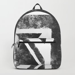 UK flag Grunge Black Backpack