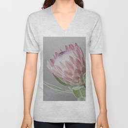 Protea In Isolation Unisex V-Neck