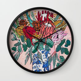 Australian Native Bouquet of Flowers after Matisse Wall Clock