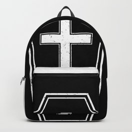 Classic Horror Distressed Gothic Coffin Backpack