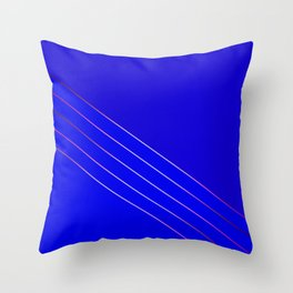 Victoria 4  Indigo Throw Pillow