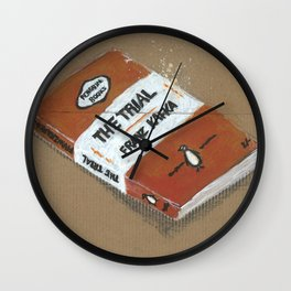 Diddie Doodle the Franz Kafka The Trail a Penguin Classic Wall Clock
