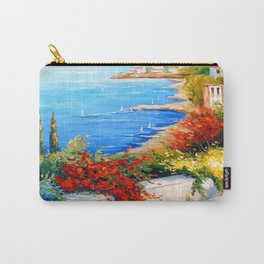 Bright day by the sea Carry-All Pouch