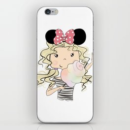 Girl With Sweet Cotton iPhone Skin