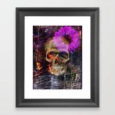 Daisy Skull Framed Art Print