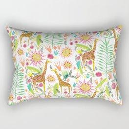 Giraffe in the jungle Rectangular Pillow