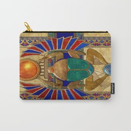 Sarcophagus 3d Egyptian Folk Art Carry-All Pouch