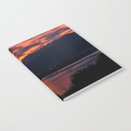 Locarno and Ascona at sunset Notebook