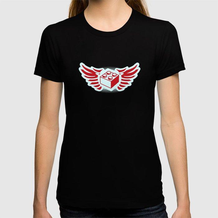 Brick Wings (Lego Radio DJ Robot) T-shirt