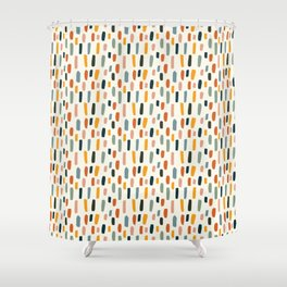 Rainbow Confetti Pattern Shower Curtain