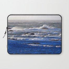Wind Blown Stormy Seas Laptop Sleeve
