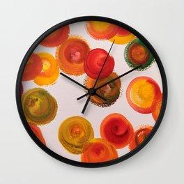 Red Swirls Wall Clock