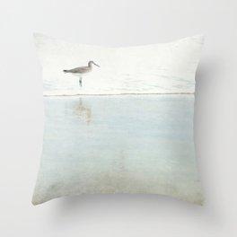 Reflecting Sandpiper Throw Pillow