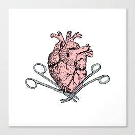 Suture Heart Canvas Print