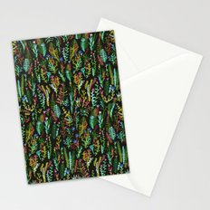 dark gaden with color flowers Stationery Cards
