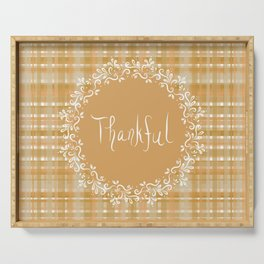 Autumn Weave Thankful Serving Tray