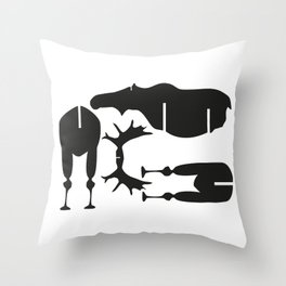 Moose Puzzle Pattern Throw Pillow