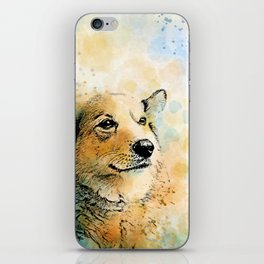 Dog 143 Corgi iPhone Skin