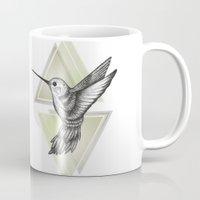 hummingbird Mugs featuring Hummingbird by Barlena