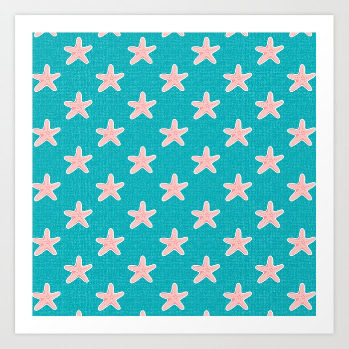 Starfish_Pattern Art Print