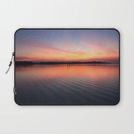 Beautiful lake at summer sunset Laptop Sleeve