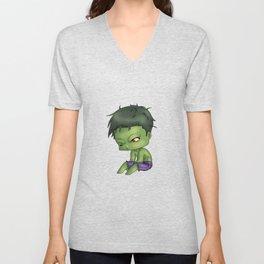Chibi Hulk Unisex V-Neck