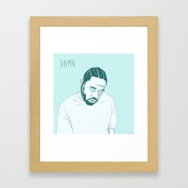 Damn. Kung Fu Kenny Framed Art Print