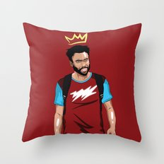 Prince Gambino Throw Pillow
