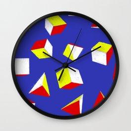 Cubes and Pyramids Wall Clock