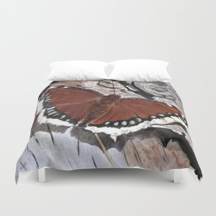 Cloak of Mourning Butterfly Duvet Cover