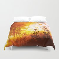 horses Duvet Covers featuring Horses by Vitta