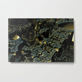 3D fractal world Metal Print
