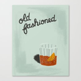 Old Fashioned - Blue Canvas Print