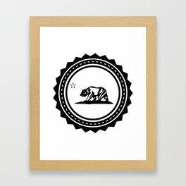CALI WHITE Framed Art Print