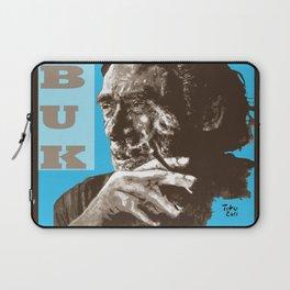 Charles BUKowski - POP-ART - sepia blue Laptop Sleeve