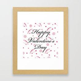 Happy Valentine's Day: Cupid's Arrow Framed Art Print