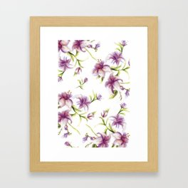 Lily Pattern Framed Art Print