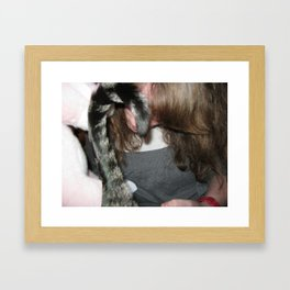 Rocco's Tail and Mama's Hair Framed Art Print