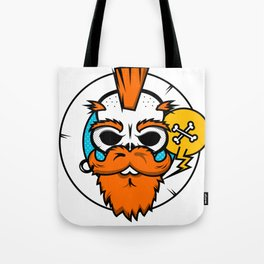 Hipster Scull Tote Bag