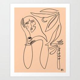 coffee and banana palms Art Print