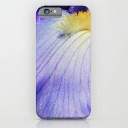 Blue Violet Iris Petal Close up iPhone Case
