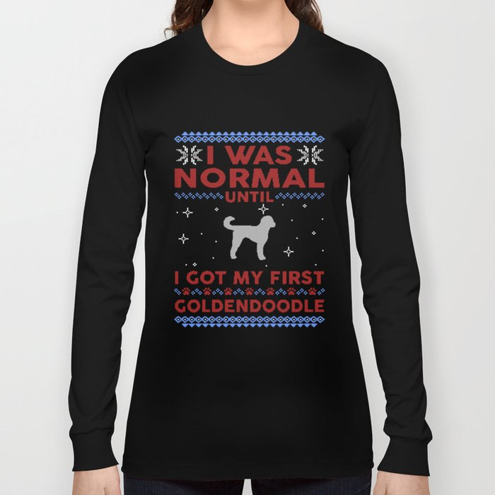 Goldendoodle Ugly Christmas Sweaters Long Sleeve T-shirt